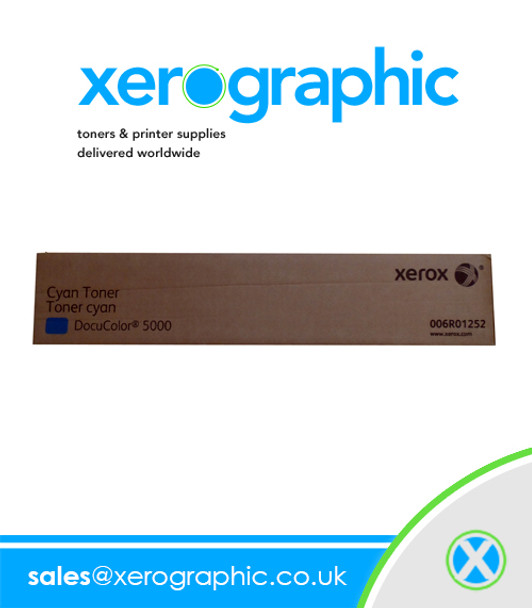 Xerox DocuColor 5000, Genuine Cyan Toner Cartridge Double Pack  006R01252, 6R1252
