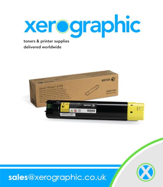 Xerox Genuine High Capacity Yellow Toner Cartridge For Phaser 6700 Printer 106R01509