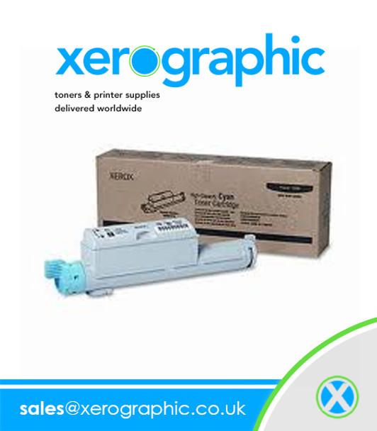 Xerox Phaser 6360 Color Laser Printer Genuine Metered Cyan Toner Cartridge - 106R01222