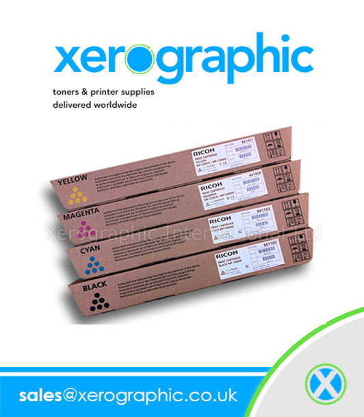 Genuine Ricoh 841160 841161 841162 841163 Full Set Toner Cartridge