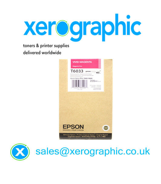 Epson Genuine Vivid Light Magenta Ink  (220ML) T6033, (C13T603300)