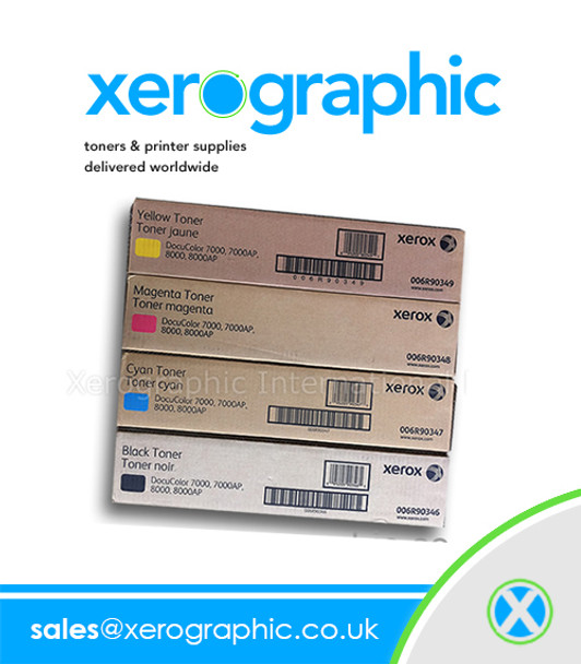Xerox DocuColor 7002, 8002, 8080 Digital Press Full Set CYMK  Genuine Toner Cartridge 006R01557 006R01558 006R01559 006R01560
