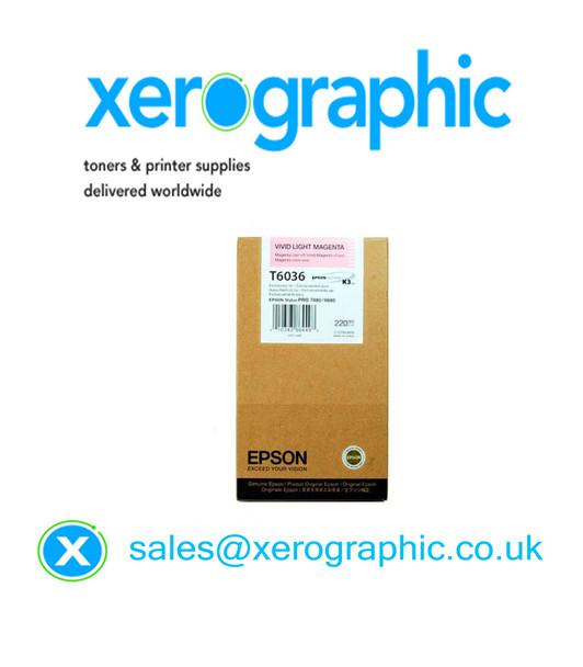 Epson 7880, 9880 High Capacity Genuine Vivid Light Magenta Ink Cartridge T6036 C13T603600
