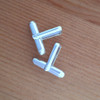 Sterling Silver Assembled Cufflink Fitting - Round Bar with 'U' Arm - 1 Pair