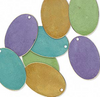 Oval Coloured Brass Blanks - Brights