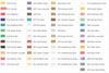 Pearl Ex Colour Chart