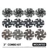 "NEW Diamond Grinding Abrasive 3"" mounted kit"