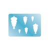 Jewellery Shape Template - Scalloped Drop 2