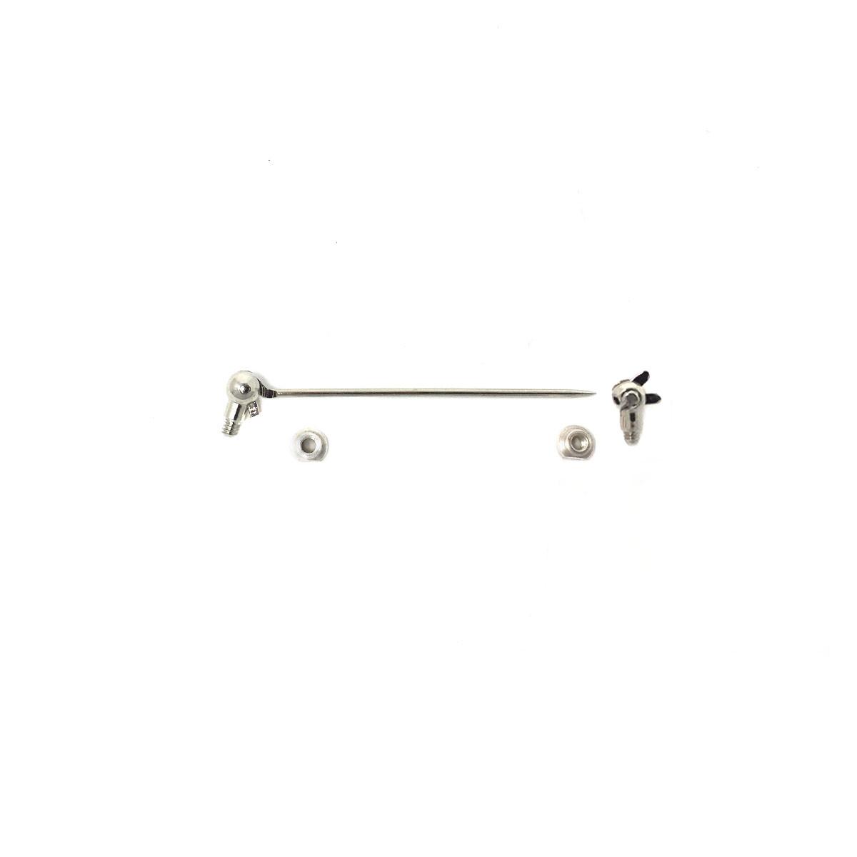 Silver Brooch Pin - Screw In - Small