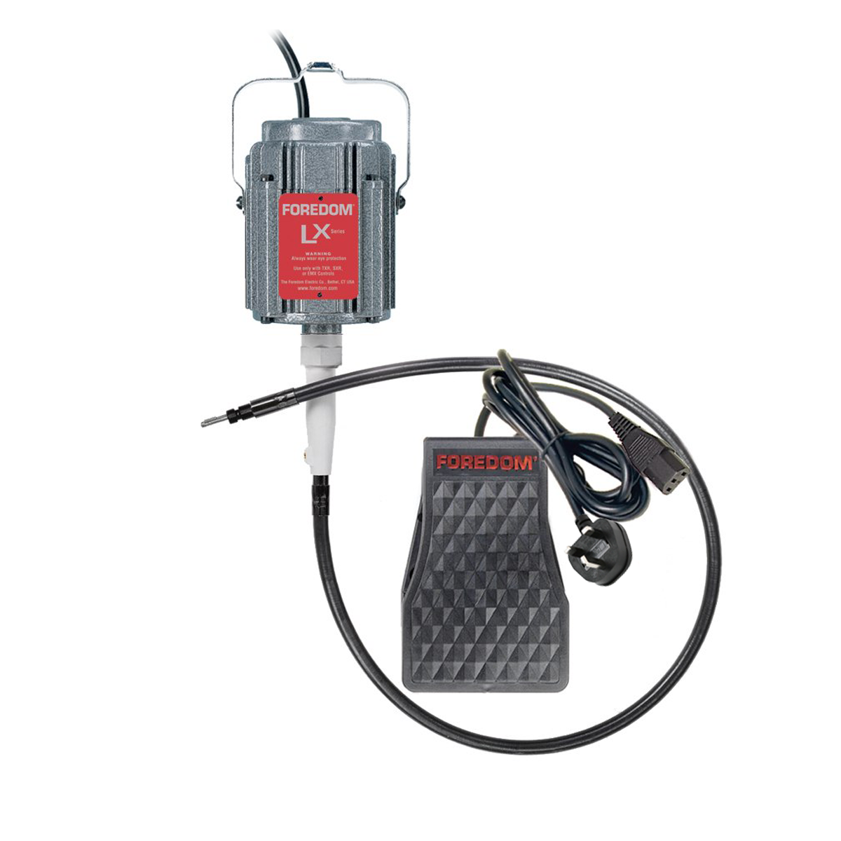 Foredom Motor LX High Torque Pendant/Hang-up Motor With Foot Control
