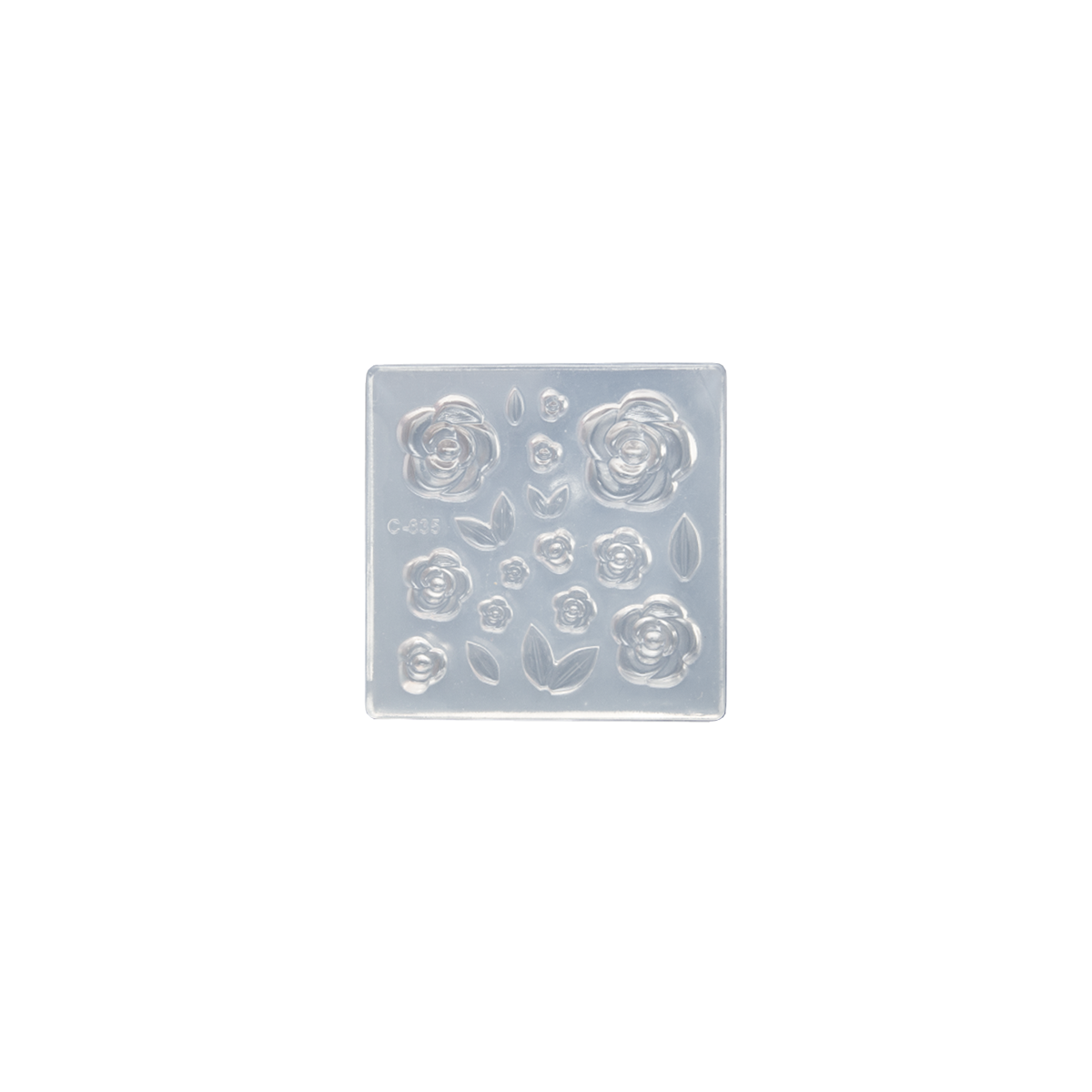 Silicone Mould - Rose Flowers and Leaves