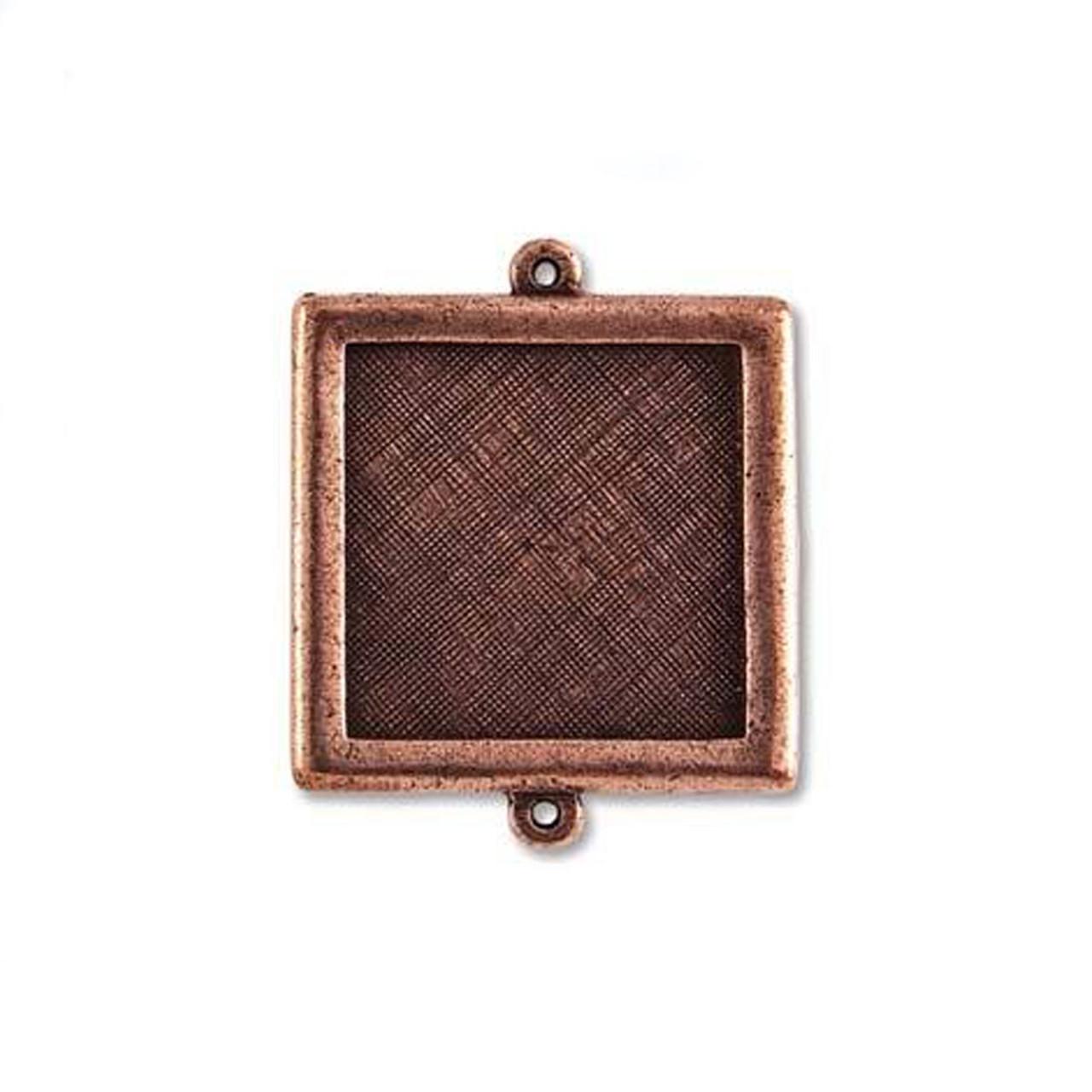 Square Link Bezel - Antique Copper - 30mm