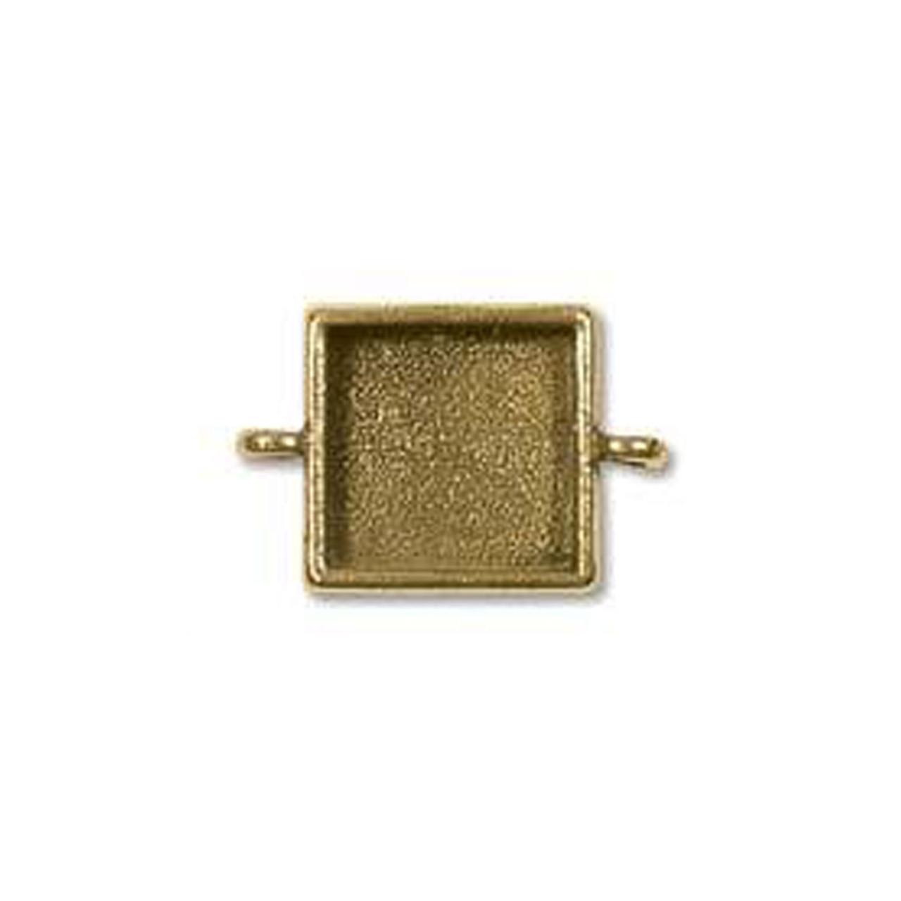 Square Link Bezel - Antique Gold - 18mm