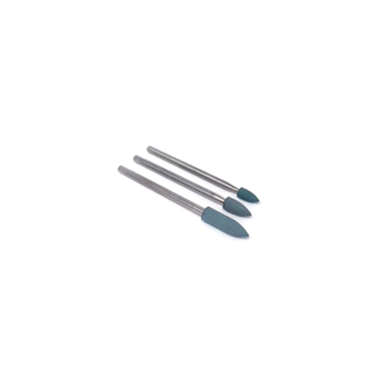 Silicone Polishing Tip Set - Green Super Fine Grit (3pcs)