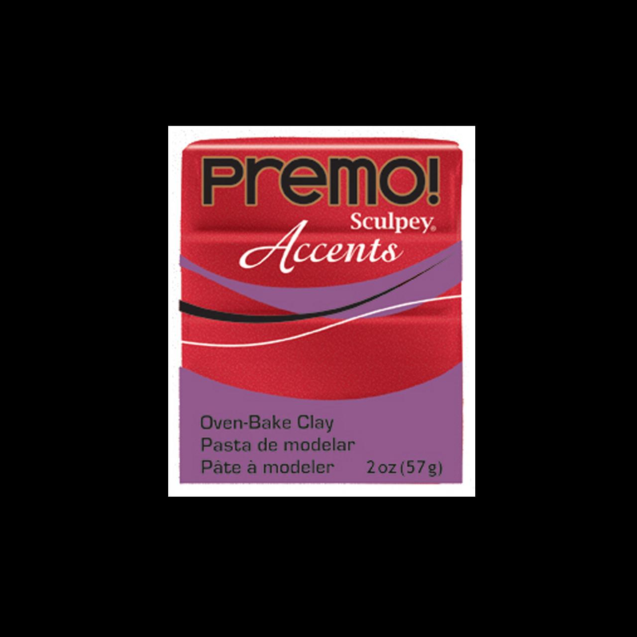 Premo Sculpey Accent, Red Glitter