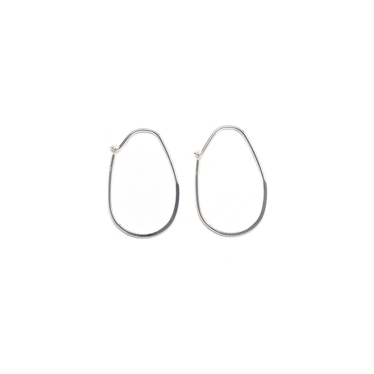 Sterling Silver Oval Earwire - 1 Pair