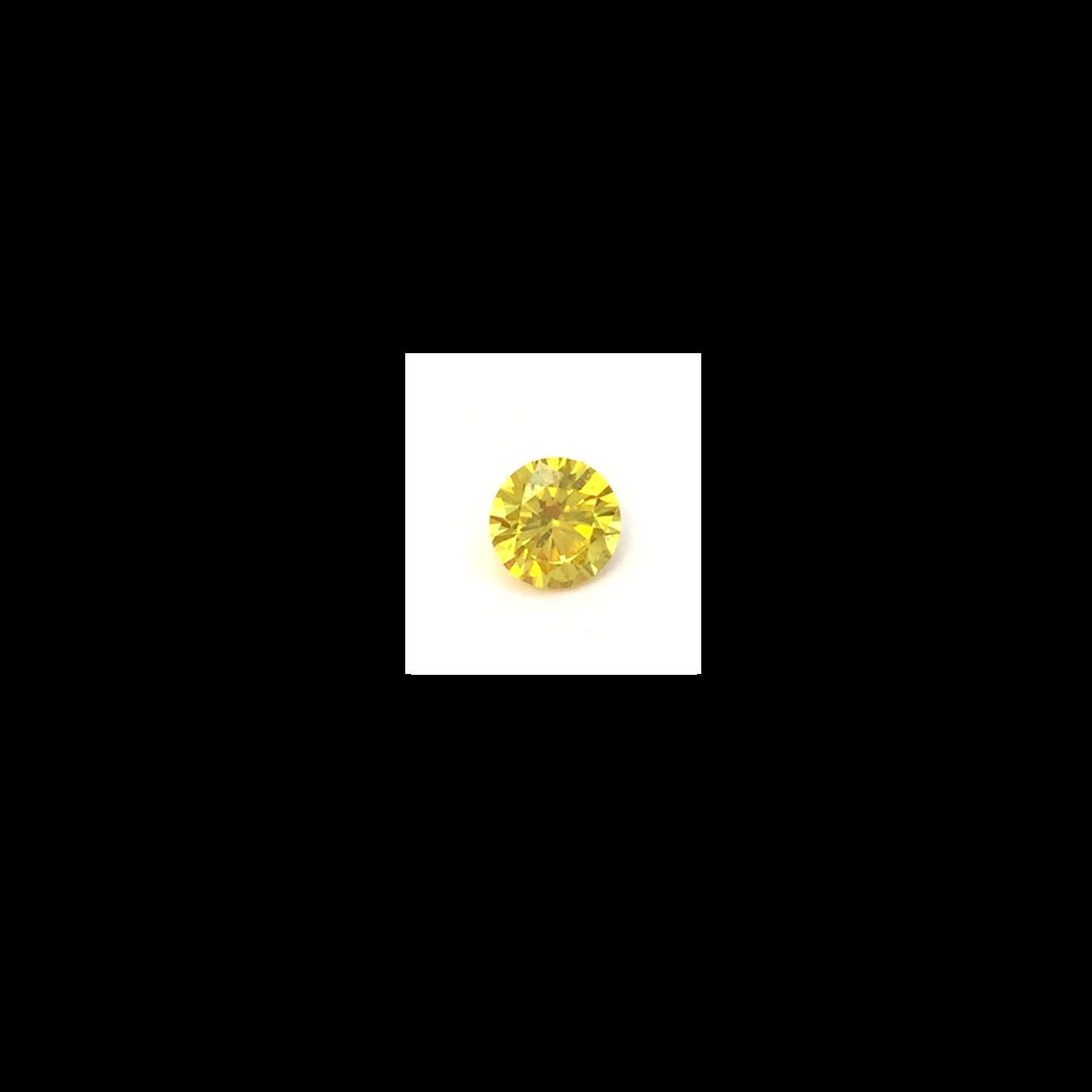 Lab Created Gemstone - Dark Yellow Round