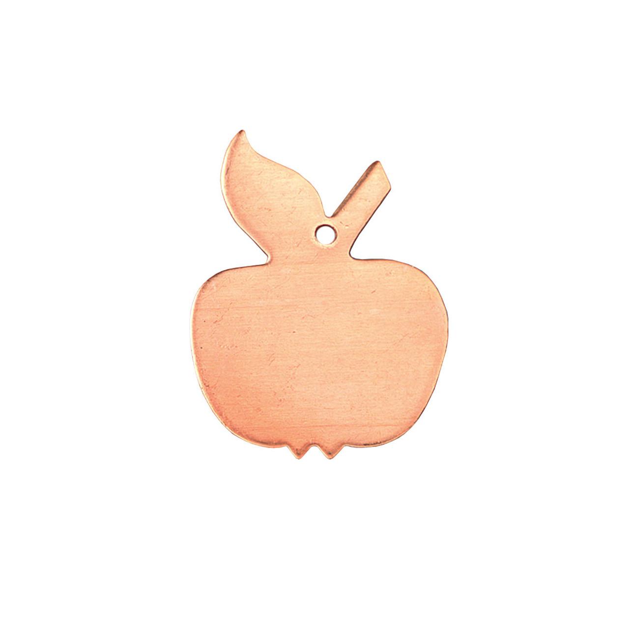 Copper Blank - Apple - 30 x 23mm