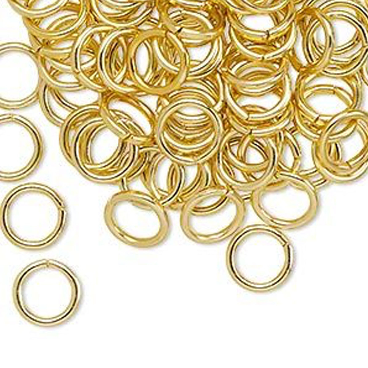 Aluminium Jump Rings - 8mm Gold - 100pcs