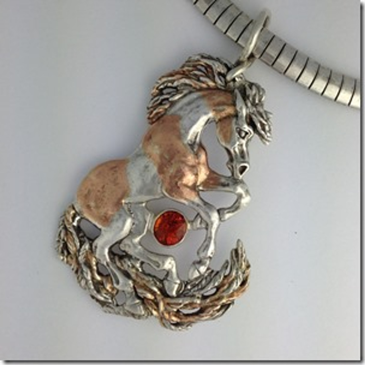 Silver and rose gold pendant by Eleanor Phillips - www.eleanorphillipsjewelry.com