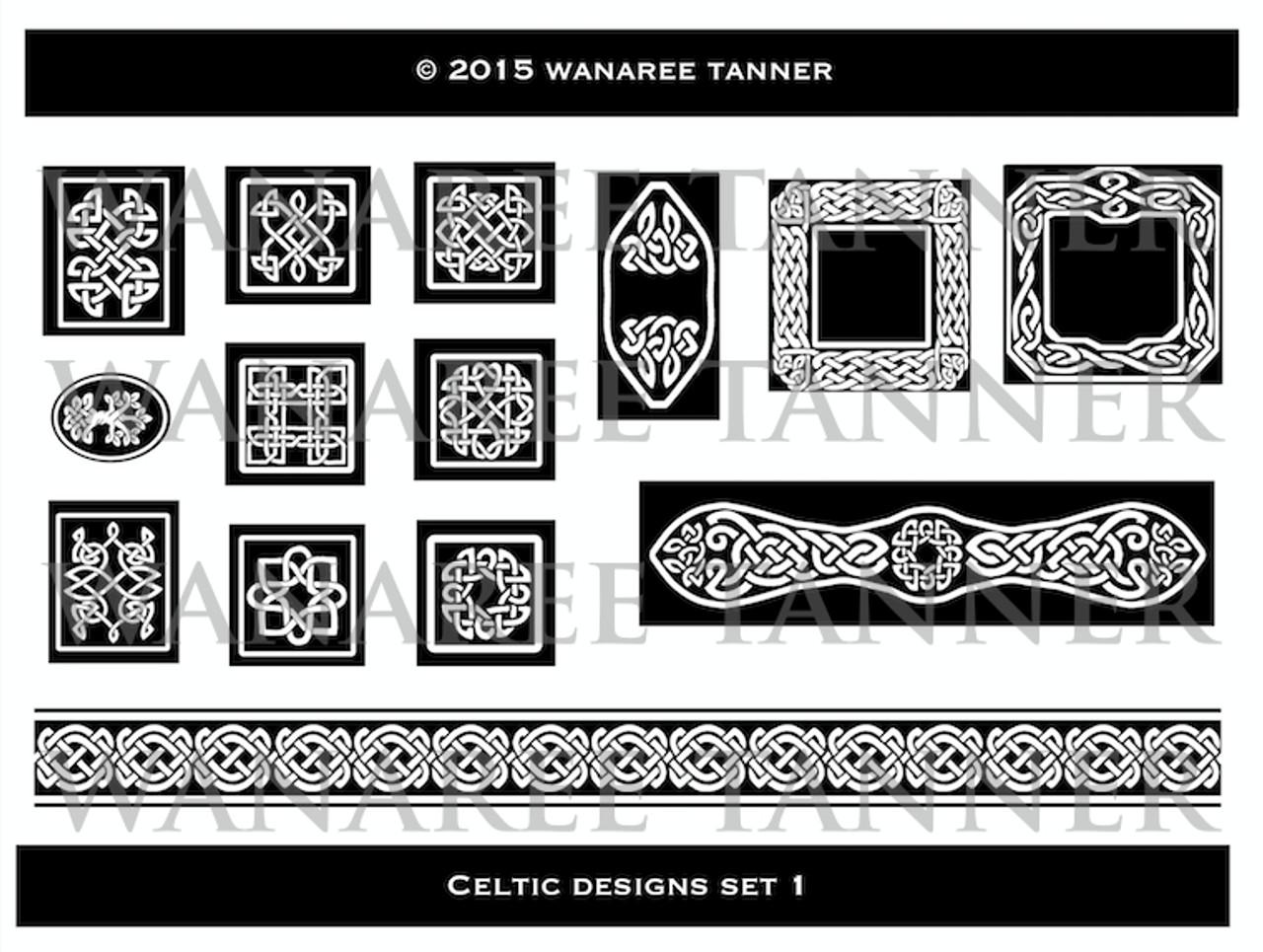 Wanaree Tanner Signature Texture Plate - Celtic 1 - Panels & Frames