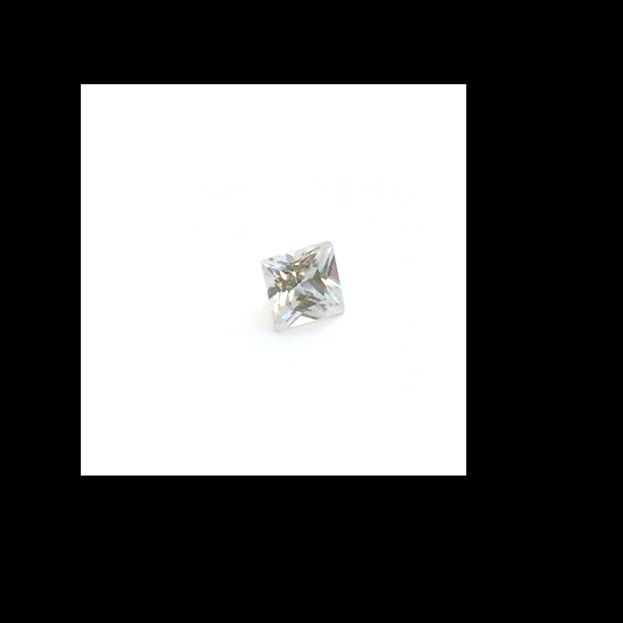 Lab Created Gemstone - White Square