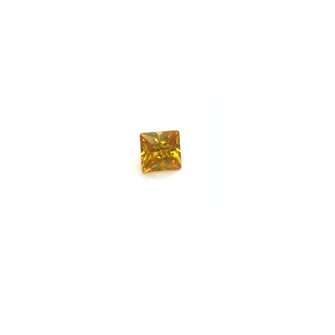 Lab Created Gemstone - Dark Yellow Square