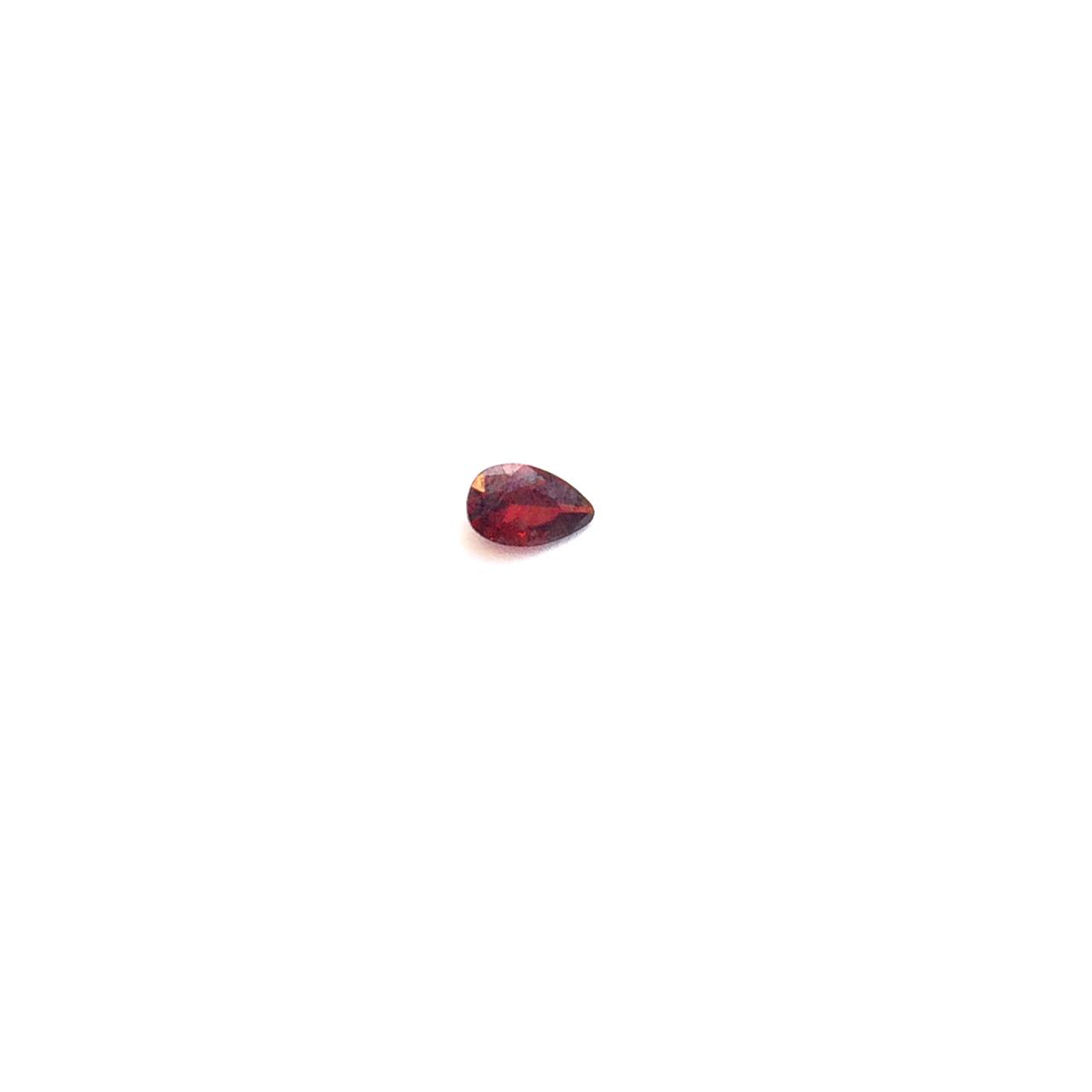 Lab Created Gemstone - Garnet Pear