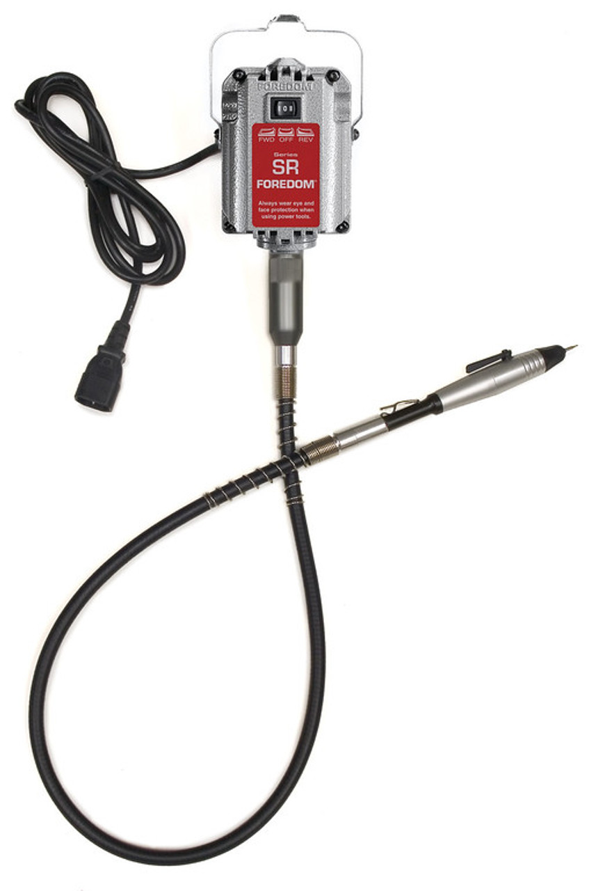 Choose which handpiece you want to use with your flexshaft - this motor does not come with one.