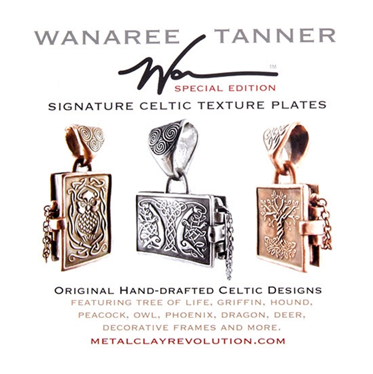 Wanaree Tanner Special Edition Texture Plate - Celtic Peacock