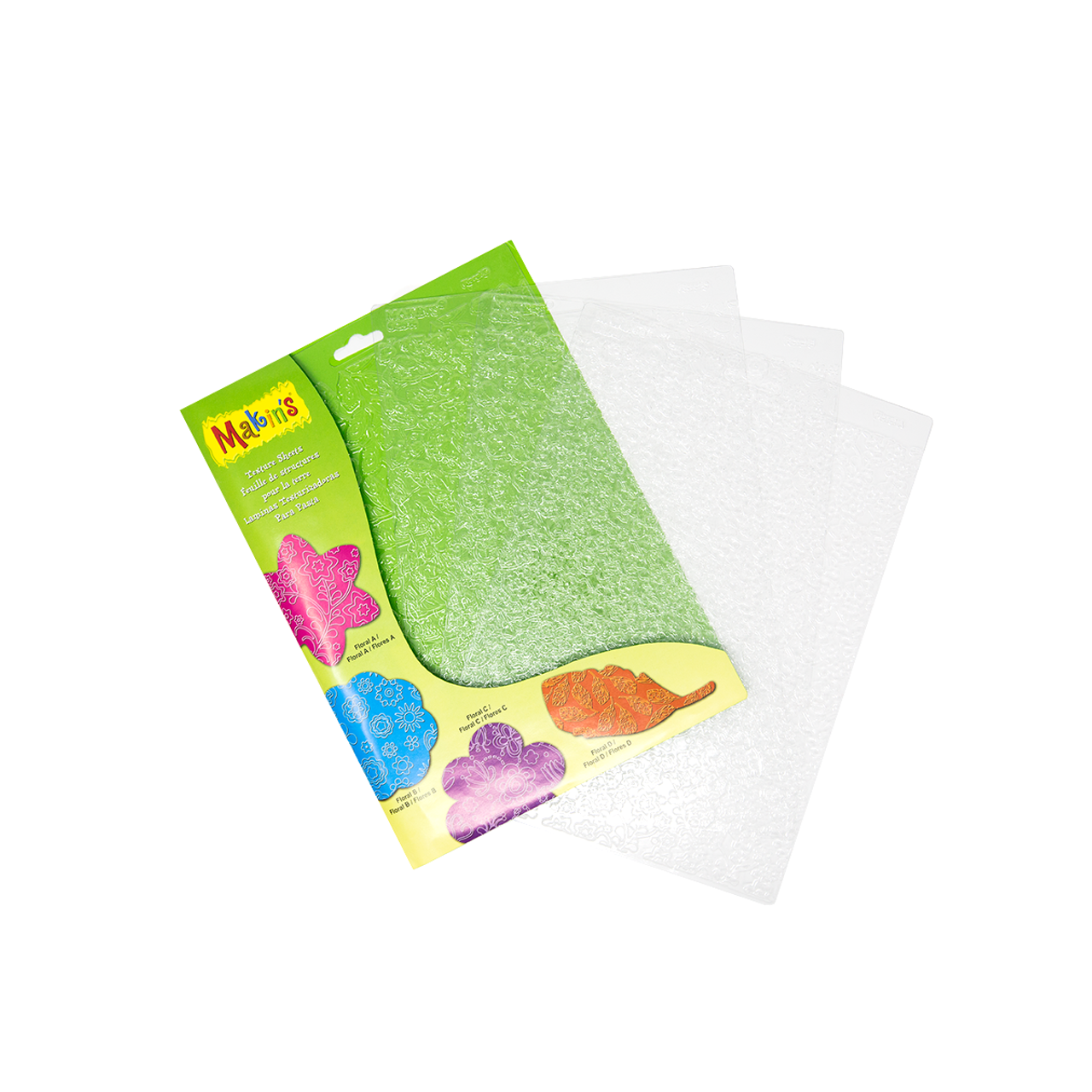 Makin's Large Texture Sheets - Floral Set