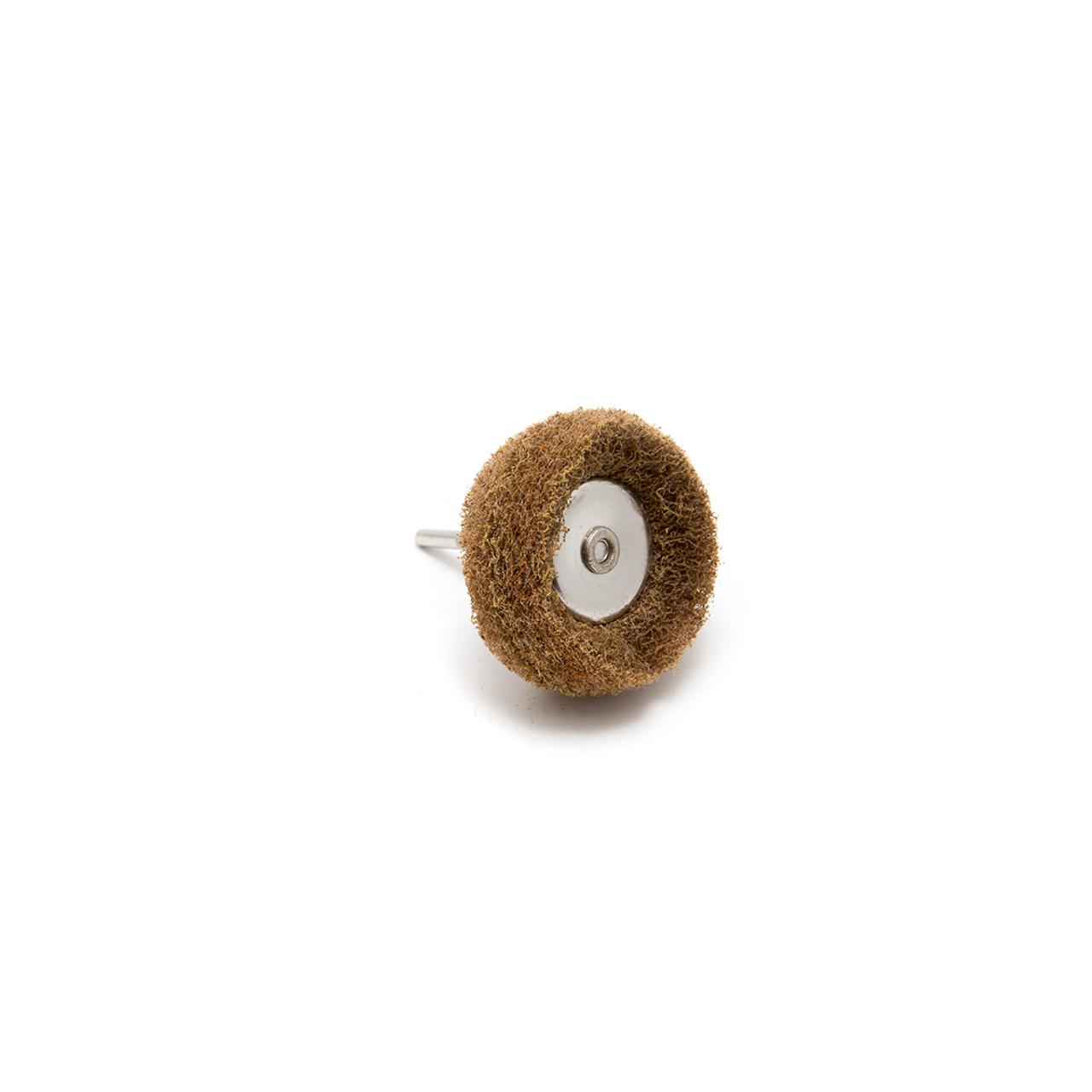 Abrasive Wheel Buff - 80 Grit, Light Brown, 38mm