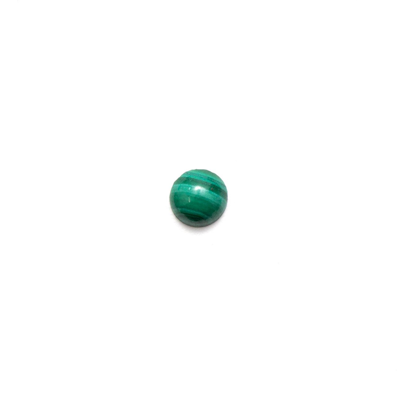 Round Cabochon - Malachite - 3mm