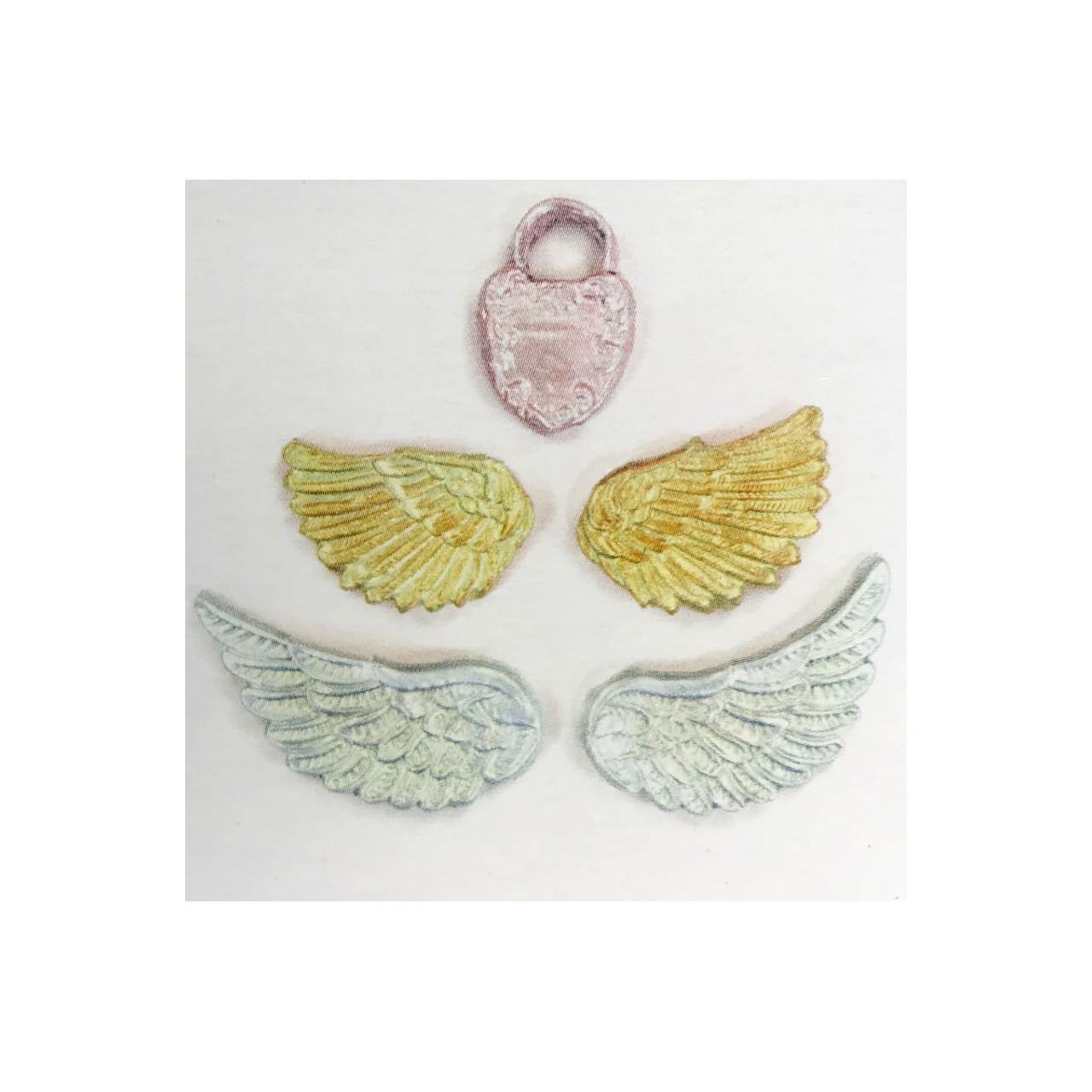 Example items moulded with Wings mould