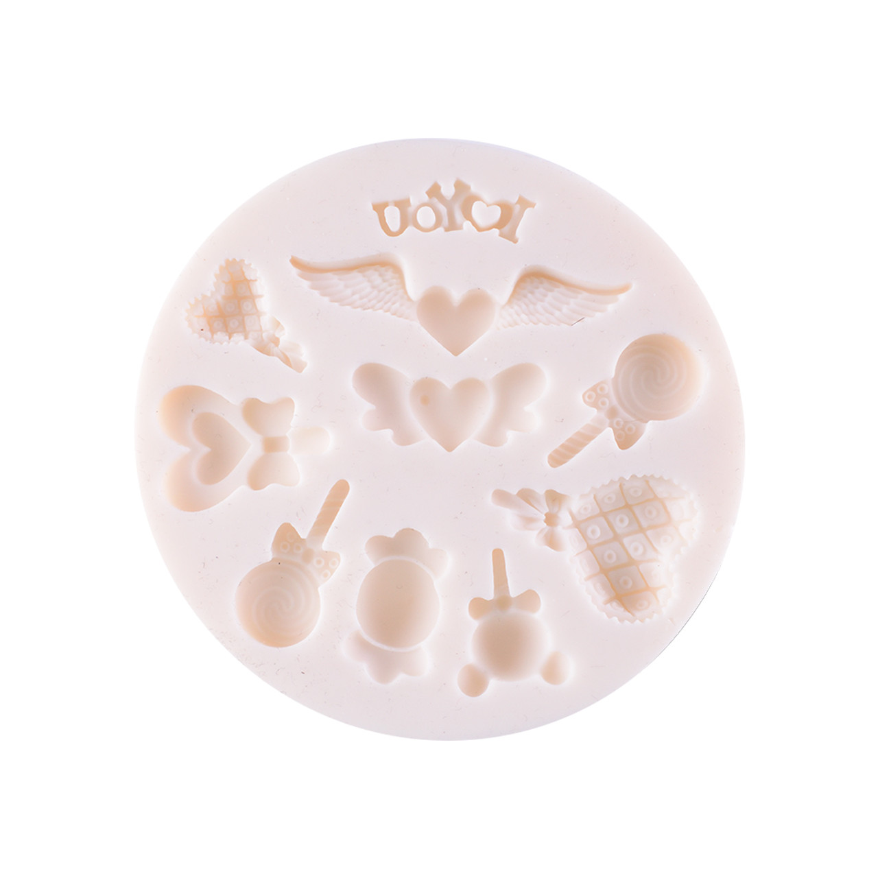 Silicone Mould - Heart & Candy 10 Kinds