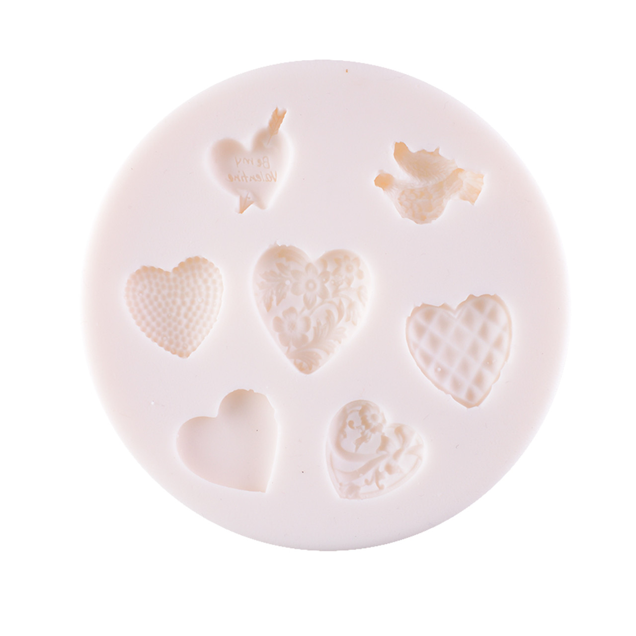 Silicone Mould - Bird & Heart 7 Kinds