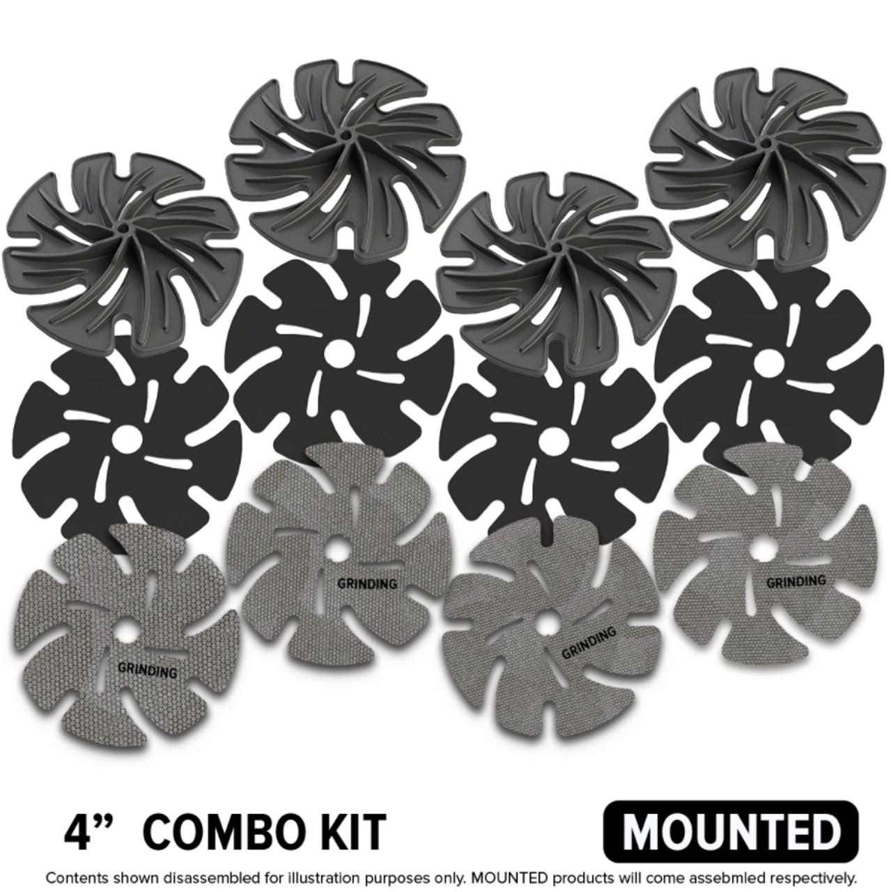 "NEW Diamond Grinding Abrasive 4"" mounted kit"