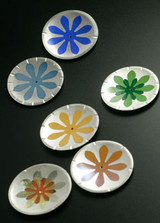 Ceramic Decals on fine silver