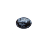 Oval cabochon - Snowflake Obsidian - 10x14mm