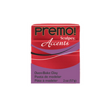 Premo Sculpey Accent, Red Glitter