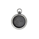Large Watch Fob - Antique Silver - 40mm