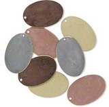 Oval Coloured Brass Blanks - Earth Tones