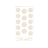 RMR Laser Texture Paper - Pansie Shapes - 50 x 89mm