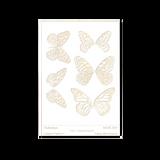 RMR Laser Texture Paper - Flutterbys - 76 x 102mm