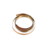 Bronze Flat Bezel Wire - 4mm x 0.2mm x 100cm