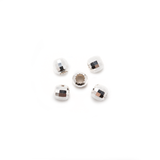 Sterling Silver Round Mirror Beads - 4mm - Pack of 5