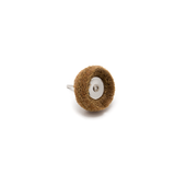 Abrasive Wheel Buff - 80 Grit, Light Brown, 38mm