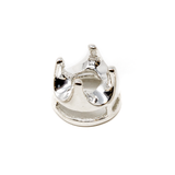 Sterling Silver Crown 4-Prong Bezel - 4mm