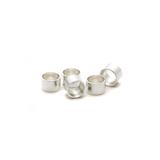 Silver Open Bezel Round 4mm - 5 pack