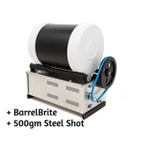Beach Metal Barreling Machine - Complete Kit - 3lb This kit comes with standard steel shot and barreling compound.  Use the add-on options to upgrade to other types of shot, including stainless steel, or premium pin-free shot.